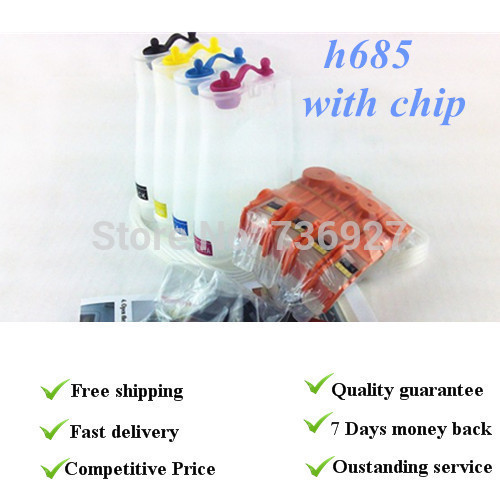 ФОТО 4 colors Empty,with chip CISS suit for Hp685, suit for HP3525 for HP4615 for HP5525 , With permanent chips, Retail Packaging