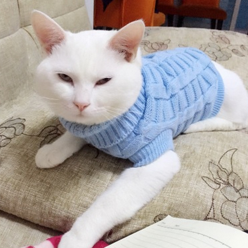 Winter Warm Cat Dog Clothes Solid Cotton Cat Sweater Kitty Coat Jacket Kitten Clothing Clothes For Small Cats Puppy Pet Products