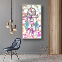 New Diamond Paintings Diamonds Painting Dream Catcher 5D DIY Christmas Diamond Mosaic Flowers Full Square  Butterfly Decoration dazzle butterfly prints diamond paintings
