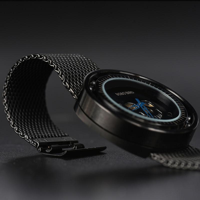 BOBO BIRD Steel Watch Timepieces Skull Dial 360 Degree Rotación - Relojes para hombres - foto 5
