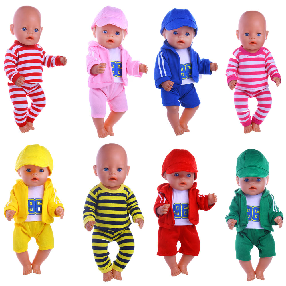 8styles 2017 Reborn Doll pajamas Clothes fit 43cm Baby Born zapfs for American Girl Doll Children best Birthday Gift n358 american girl dolls pajamas girl doll accessories princess doll clothes fit 18 inches clothes baby birthday christmas gift zk12