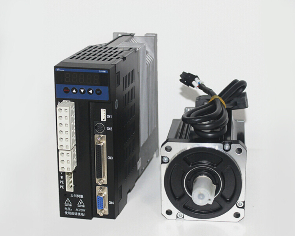single phase 220V 200w 0.2KW 0.64N.m 3000rpm 60mm AC servo motor drive kit 2500ppr with 3m cable free shipping 24v dc mig welding wire feeder motor single drive 1pcs
