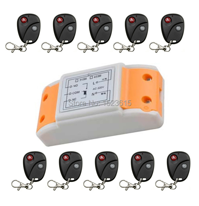 Universal Wireless Remote Control Switch AC220 1ch relay Receiver Module RF Remote 315MHz/433MHZ Transmitter with Two-button new arrival ac 110v 220v relay 1ch wireless remote control switch receiver module and rf remote controls 315 433mhz