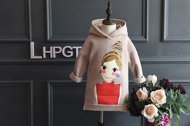 [Bosudhsou] JH-9 Girls Outerwear Jacket Full Sleeve Children Clothing Hoodies Sweatshirts Kids Coat Baby Girls Warm Clothes