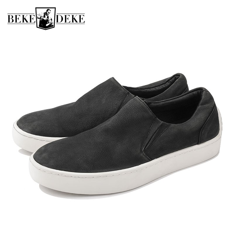High Quality Cow Leather Slip On Mens Loafers Driving Footwear Breathable Flat Shoes Casual Designer Sneakers Men Boat Shoes serene brand cow leather boat shoes men casual lace up shoes lightweight breathable loafers slip on shoes men dress shoes 6200