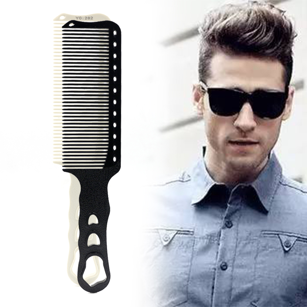 Pro 1 PCS Anti Static Barber Comb For Hair Cut Resin Heat Resistant Clipper Hairdressing Men Comb Durable And High Quality