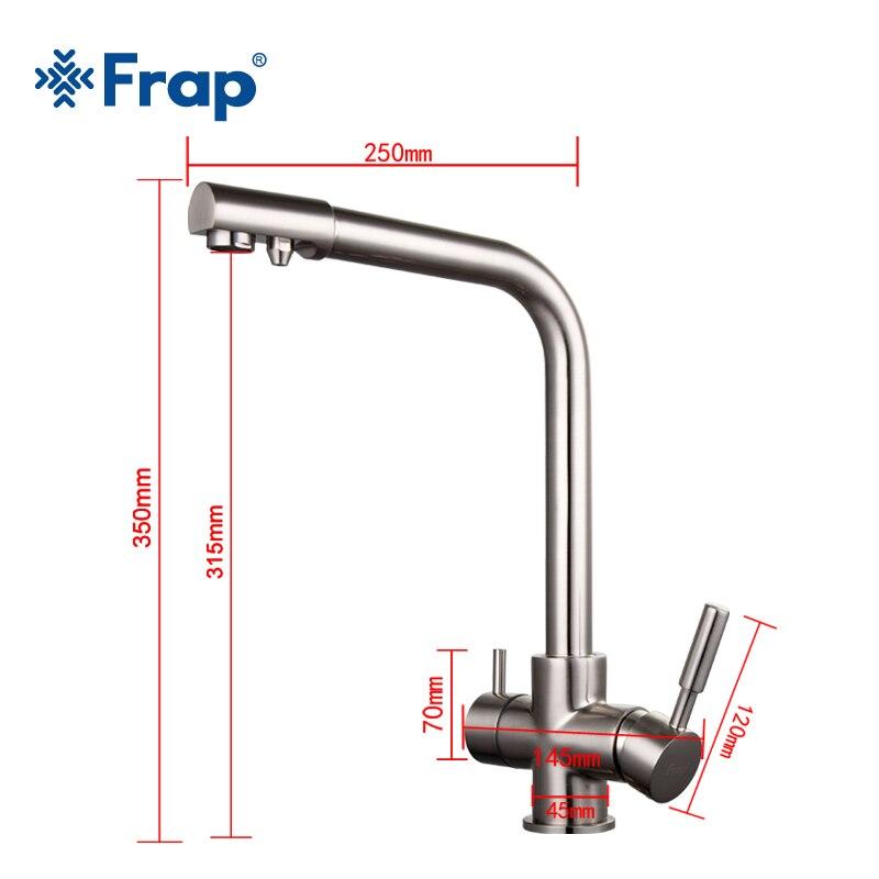 Frap матовый никелевый кухонный кран с семи буквами дизайн вращение на 360 градусов очистка воды особенности двойная ручка F4352 5 - 3
