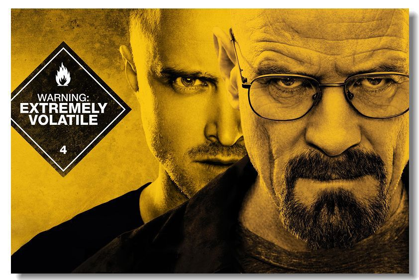 Freies Schiff Breaking bad TV 1 2 3 4 5 Saison Silk Wall Poster ...