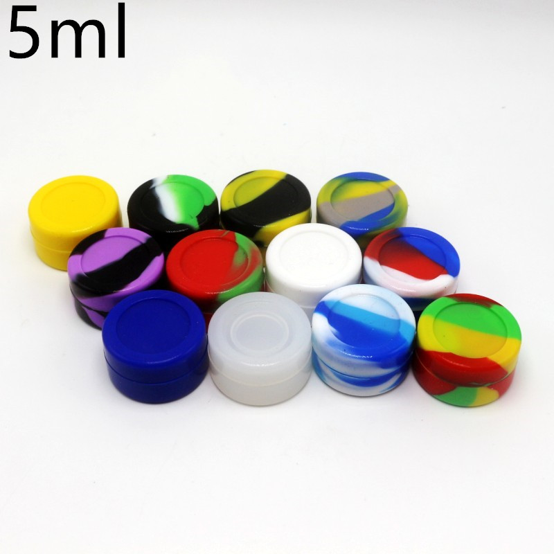 5ml 6ml 6+1 Silicone Storage Jar Rubber Seal For Wax Oil Non Stick Silicone  Container 5pcs/lot In Storage Bottles U0026 Jars From Home U0026 Garden On ...
