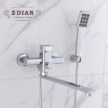 Смеситель для душа с Handheld Showerhead Душ Ванна кран смеситель 2 функции смеситель Ванная комната кран