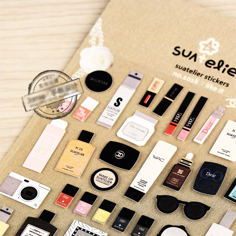 Cosmetic Scrapbooking Sticker Decorative Sticker Diary DIY Decors Album Decals Notebook Planner Accessories Cute Gift Stationery