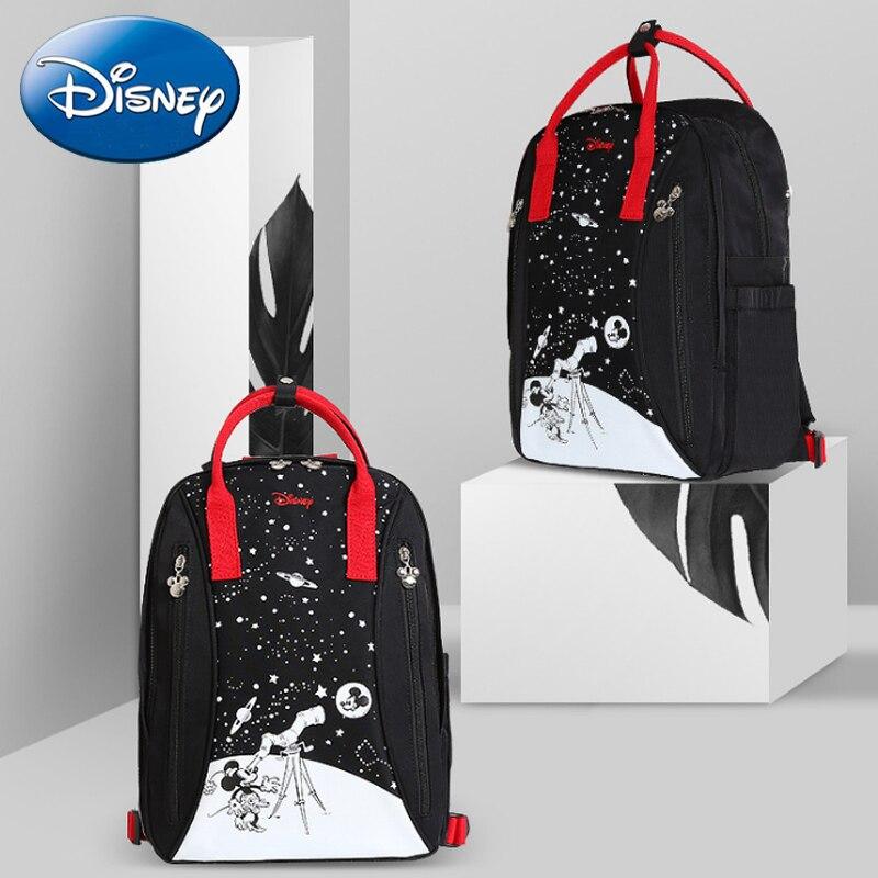 Disney nouveaux sacs à couches imperméables mignons maman bouteille alimentation voyage sac à dos bébé sac de bande dessinée haute capacité maman sac de rangement