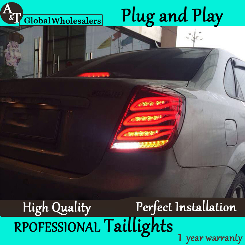 Car Styling for Chevrolet Lacetti Taillights 2008-2014 New Lacetti LED Tail Lamp Rear Lamp DRL+Brake+Park+Signal led light. автоинструменты new design autocom cdp 2014 2 3in1 led ds150