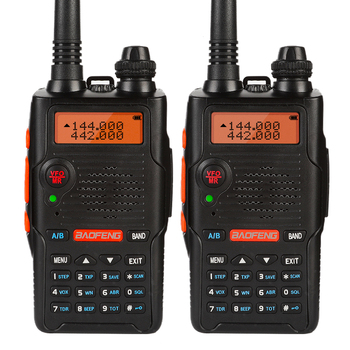 2 PCS Baofeng UV-5R EX 5W Dual Band Two Way Radio Walkie Talkie Rechargeable Long Range Ham Radio with Earpiece Desktop Charger