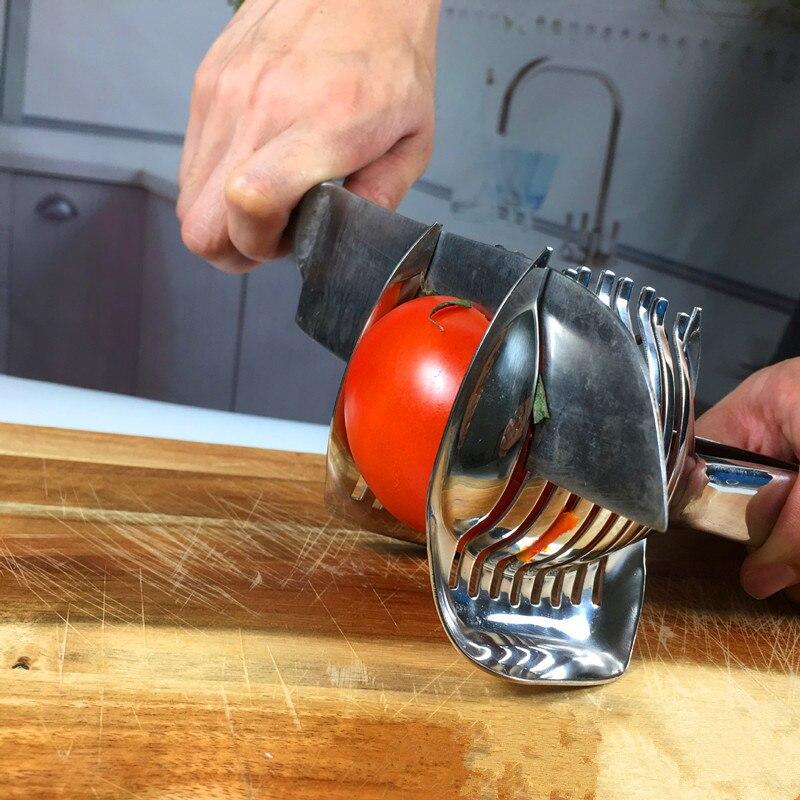 cytryny pomidory tomato owoce slicer cutter stojak ze stali nierdzewnej kuter utensilios de cozinha asystent