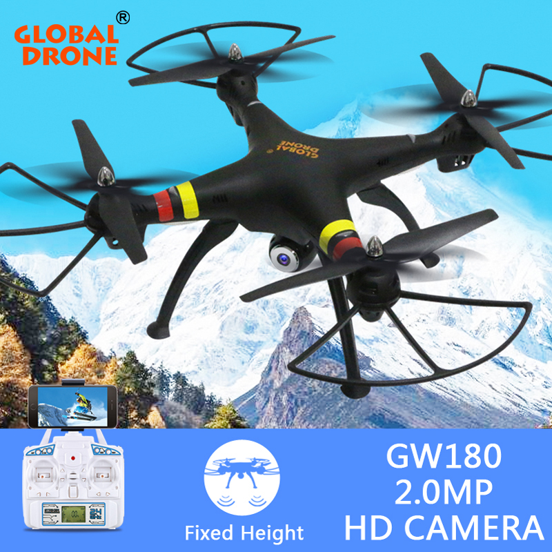 Global Drone GW180 RC Quadcopter Altitude Hold Drone can Carry 1080P 4K Camera RC Helicopter dron