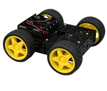 Multi Chassis 4WD Kit (Basic Version) Car Metal Material Plaform Robot Chassis(China)
