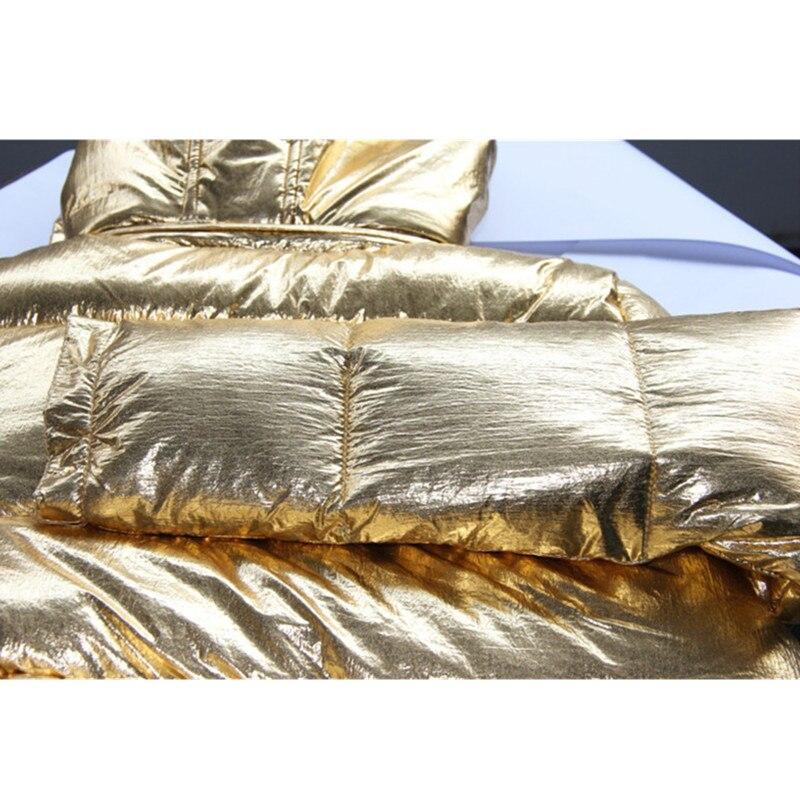 Ioqrcjv 2018 Automne Capuchon N150 Parkas Taille Bas Golden Veste D'hiver D'or Court À Le Vers Femmes Chaud Tops Femme Épais Plus Coton La Manteau E1S7BHq