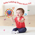 Musical Toys Baby Kid Ladybug Shaped Music Toy Coolplay Ladybird Sound Toy With Light Flash for Language Development