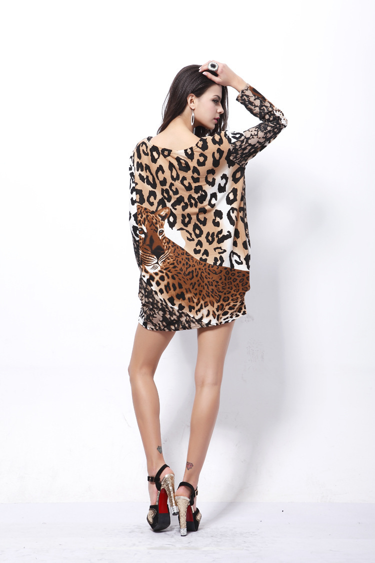 c0b1444d90 creative design women s tiger print dresses ladies plus size leopard printed  dress 2014 new summer fashion trend apparel-in Dresses from Women s Clothing  on ...