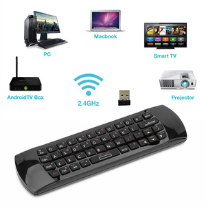 Image 2 - Original 3 in 1 Rii i25 2,4G Mini Wirless Air Maus Tastatur Mit IR Fernbedienung PC Teclado Für tablet Smart Android TV Box
