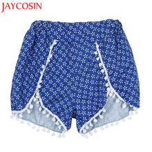 JAYCOSIN 2017 moda mujer Casual Tassel Shorts alta cintura playa AUG26230 drop shipping(China)