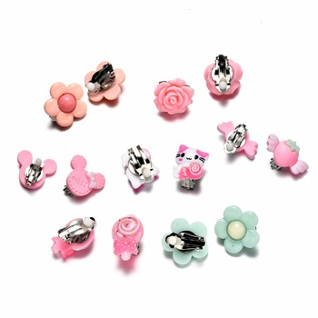 7 Pairs Kids Toddler Little Girls Clip On Earrings Value Set Birthday Party Gift 2