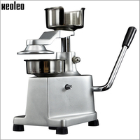 XEOLEO 100/130mm Commercial manual hamburger forming machine Burger maker Mini Patty maker Stainless steel Meat pie machine