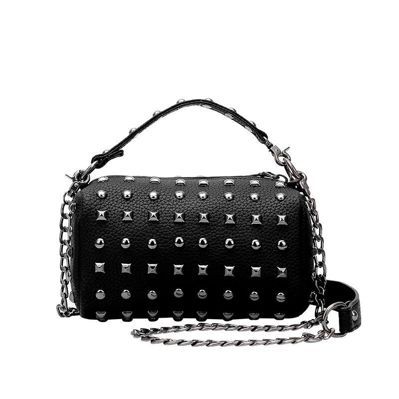 Rivet studded Edgy MINI Chain Bag 2016 Korean Style Small Hand Bag Fashion Pillow shaped Cheap