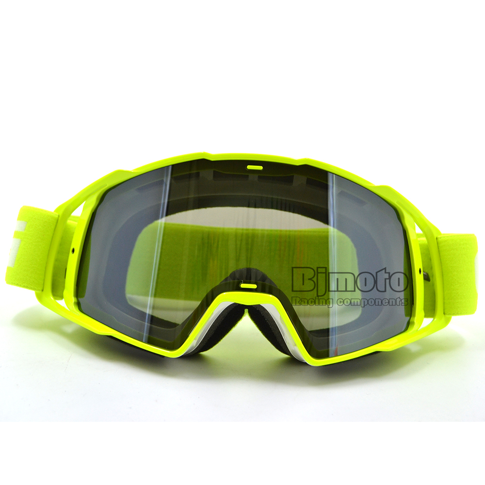 MG-021B-WH-YE Motocross Glasögon Glasögon Män Kvinnor MX Off Road Hjälmar Sport Gafas Goggle For Dirt Bike