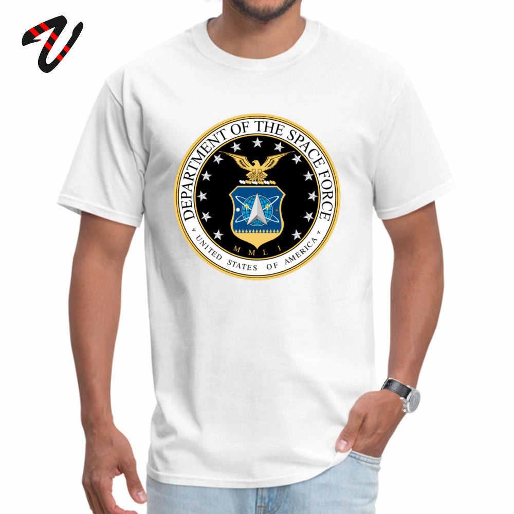 Space Force homme mode Normal T Shirt col rond nouvel an jour 100% Sans t-shirts 3D imprimé Linux manches t-shirt