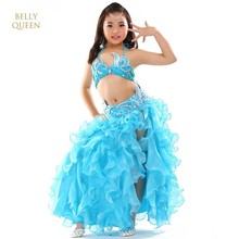 2018 Girls Belly Dance Kostym Barn Bollywood Dance Dräkter Barn Indiska Kläder Klänningar Bellydance Kids Bellydancer 3st