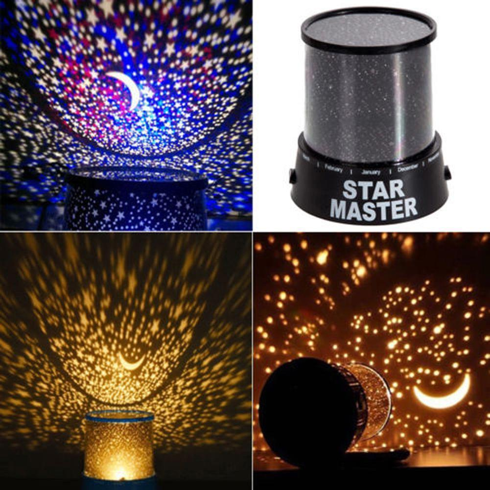Room Novelty Night Light Projector Lamp 2 Modes Starry