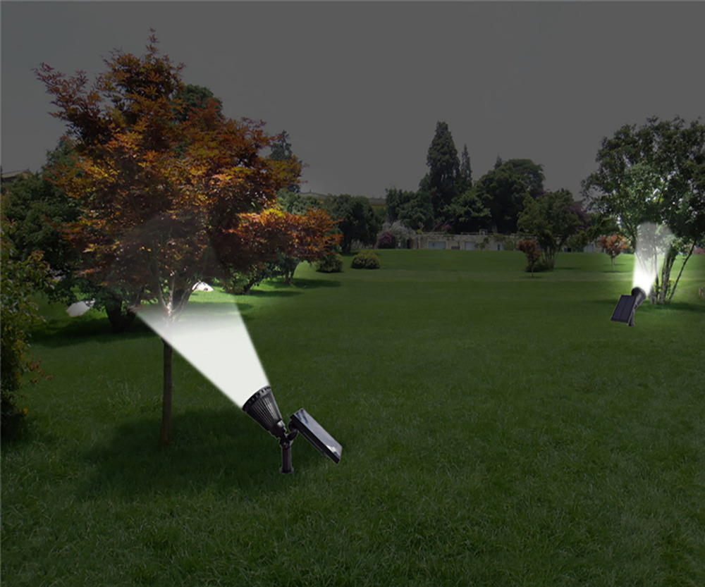 T SUN In Ground IP65 Solar Powered Spotlight with 4 to7 LEDs and Rechargeable Lithium Battery 24