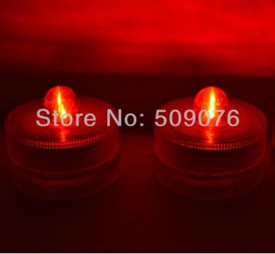 960 шт/партия 8 цветов свеча с искусственным пламенем светодиодная мигающая свеча Водонепроницаемая свеча свет votive свечи - Цвет: red