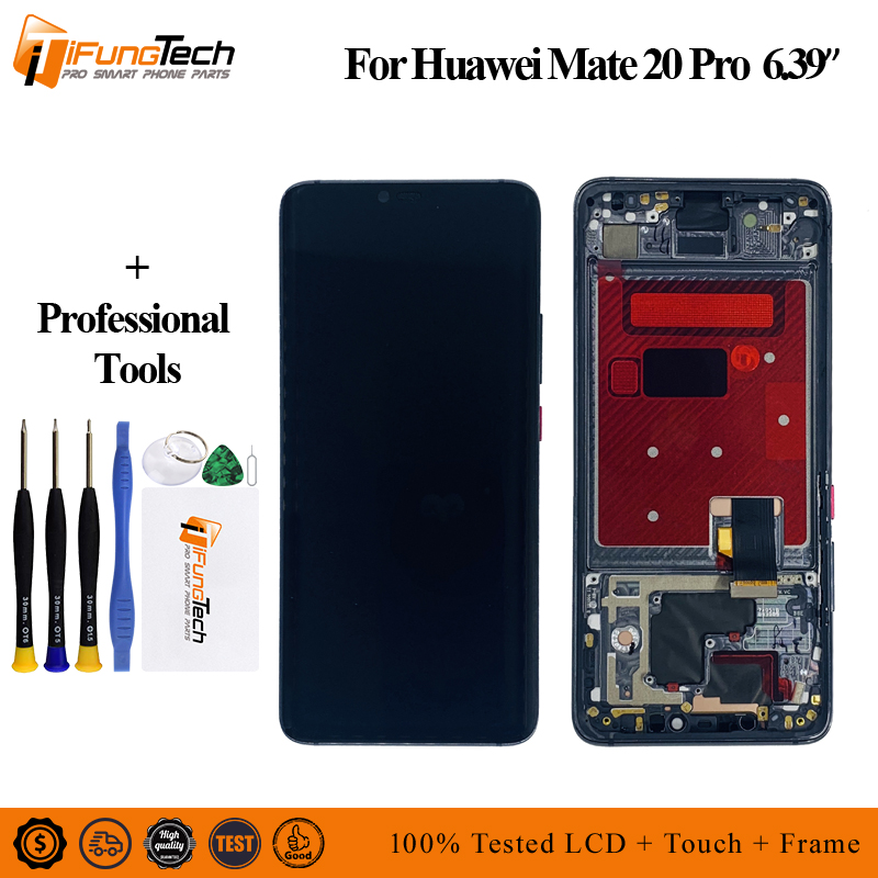 AA For Huawei Mate 20 Pro LCD Display with frame Touch Screen Digitizer Assembly Repair for