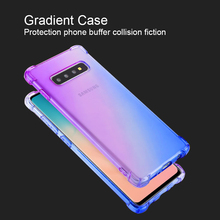 Gradient Case For Samsung Galaxy S10 Plus S10E S7 Ultra Thin Cases Clear TPU Phone Shockproof Cover Anti-fall