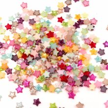 LF 200Pcs Mixed AB Color 10x10mm Haft Star Pearl Beads Crafts Flatback Cabochon Scrapbooking For Embellishments Diy Accessories(China)