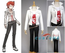 Danganronpa Leon Kuwata Halloween Cosplay Costume White T Shirt Suit For Men Women