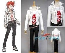 Danganronpa Leon Kuwata Halloween Cosplay Costume White T Shirt Suit For Men Women