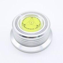 Горизонтального стабилизации проигрыватели дисковый стабилизатор lp запись вибрации скорости вращения серебряный