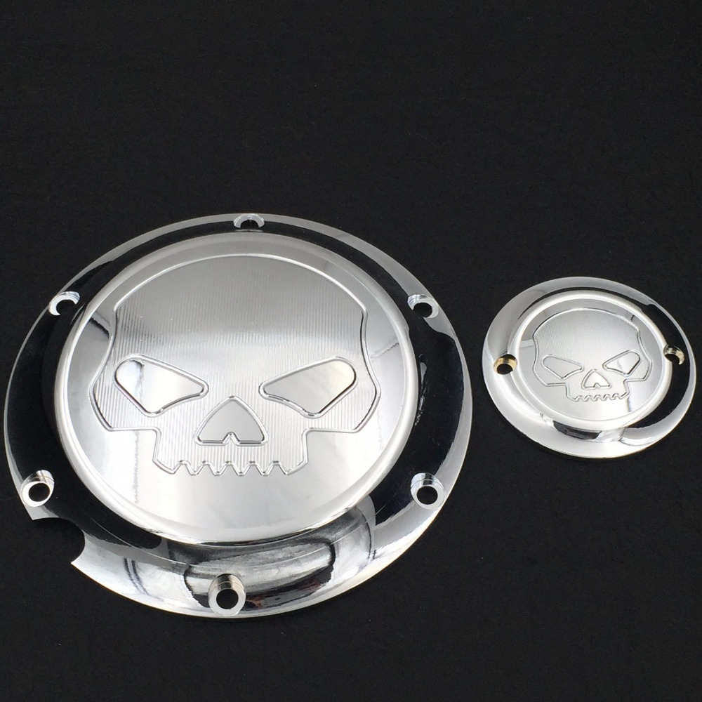 Aftermarket Skull Engine Derby Timer Cover For For Harley Davidson XL1200C Sportster 883 XL 1200X Forty-Eight Seventy Two Roadst aftermarket free shipping motorcycle parts for harley davidson xl1200c sportster 883 derby flame timing timer cover black