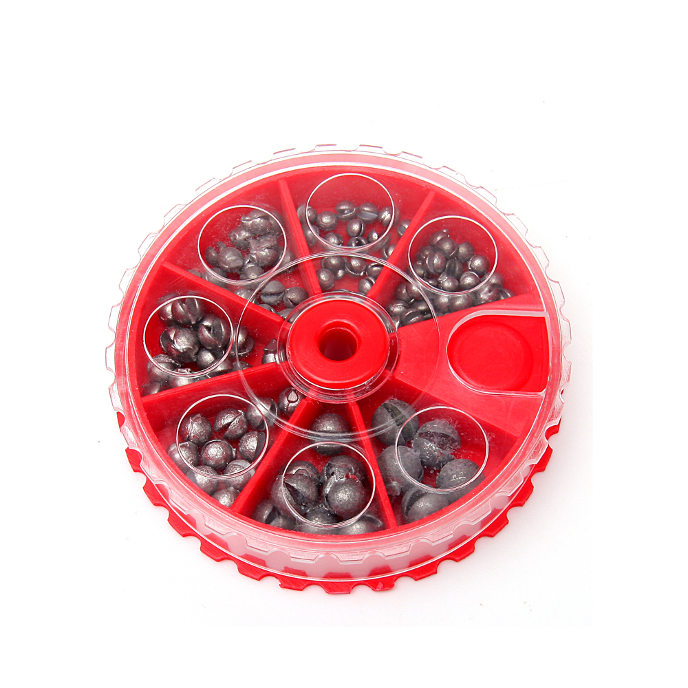 Fishing Tackle Accessories Bite Lead Clip Clamp Down Sinker Round Mouth Weight Open Line Protection 106/205 Pieces Set