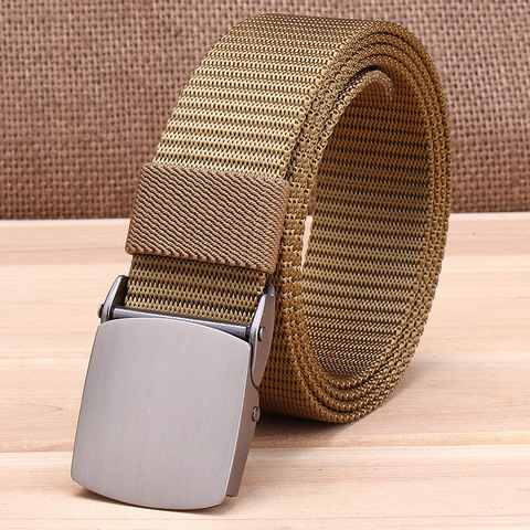 Military Tactical Nylon Belts Men Army Combat Heavy Duty Adjustable Belt Male Quick Dry Breathable Automatic Plastic Buckle Belt Multan