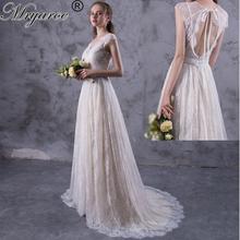 Mryarce New Design vestido de noiva 2017 Amazing Exquisite Lace Boho Wedding Dresses Open Back Bridal