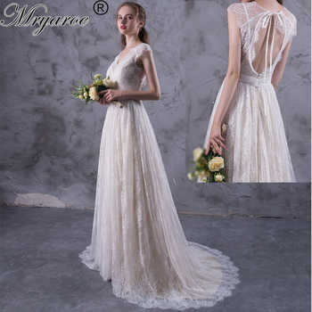 Mryarce New Design vestido de noiva 2017 Amazing Exquisite Lace Boho Wedding Dresses Open Back Bridal Gowns mariage Dress - DISCOUNT ITEM  10% OFF All Category