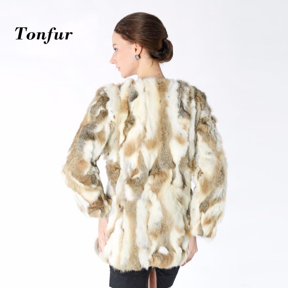 New Arrival 100 Real Rabbit Fur Coat Hot sale Women Nature Fur Jacket Wholesale factory Real