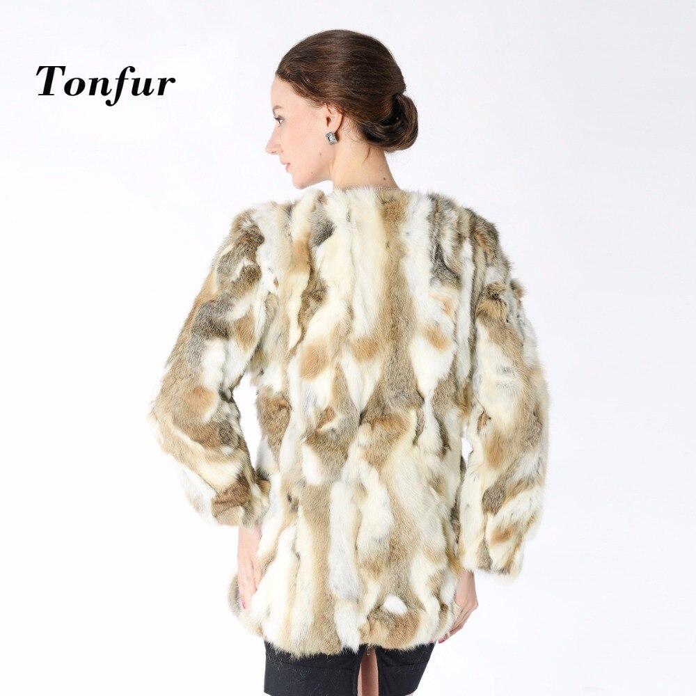 جديد وصول 100% أرنب معطف الفرو الحقيقي الساخن بيع النساء الطبيعة الفراء الحقيقي معطف الفراء سترة الجملة المصنع TBNT125-في فراء حقيقي من ملابس نسائية على  مجموعة 1