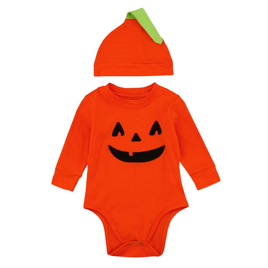baby girl clothes baby boy clothes New Infant Baby Boys Girls Halloween Pumpkin Romper Jumpsuit+Hat 2Pcs Clothes Oct ...