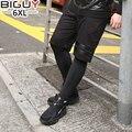 TIPO GRANDE 2017 Negro Medias de Compresión Para Hombre Más El Tamaño 4xl 5xl 6xl Pantalones Hombres Flacos Pantalones Deportivos de Compresión 1522